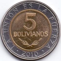 Coin > 5bolivianos, 2010-2012 - Bolivia  - reverse