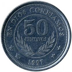 Münze > 50Centavos, 1997 - Nicaragua   - reverse