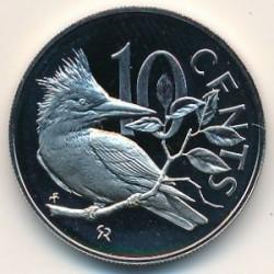 Кованица > 10центи, 1973-1984 - Британска Девичанска Острва  - reverse