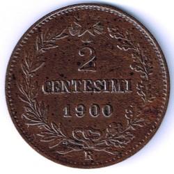 Moneta > 2čentezimai, 1895-1900 - Italija  - reverse