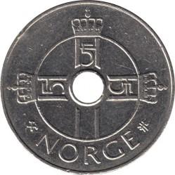 Монета > 1крона, 1997-2016 - Норвегия  - obverse