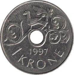Монета > 1крона, 1997-2016 - Норвегия  - reverse