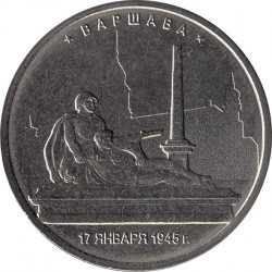 Moneta > 5rubli, 2016 - Russia  (The Capital Liberated by the Soviet Troops from the Fascist Invaders - Warsaw) - obverse