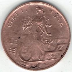 العملة > 1سنتيسيمو, 1908-1918 - إيطاليا  - obverse