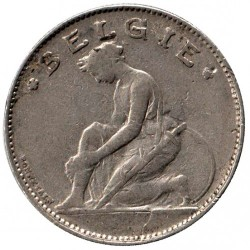 """Монета > 1франк, 1922-1935 - Белгия  (Надпис на холандски - """"BELGIË"""") - reverse"""