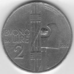 Moneta > 2liros, 1923-1927 - Italija  - reverse