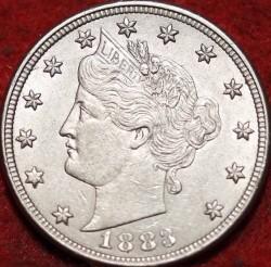"""Moneda > 5centavos, 1883 - Estados Unidos  (Liberty Nickel, sin """"CENTS"""") - obverse"""