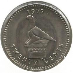 Кованица > 20центи, 1975-1977 - Родезија  - reverse