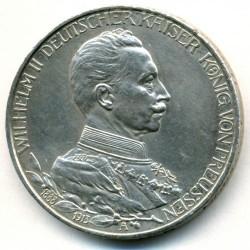 Moneda > 3marcos, 1913 - Alemán (Imperio)  (25º Aniversario - Ascensión de Guillermo II) - obverse