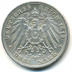Moneda > 3marcos, 1913 - Alemán (Imperio)  (25º Aniversario - Ascensión de Guillermo II) - reverse