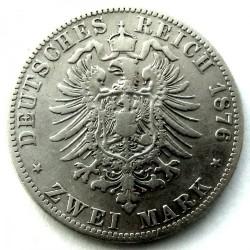 Moneda > 2marcos, 1876-1884 - Alemán (Imperio)  - reverse