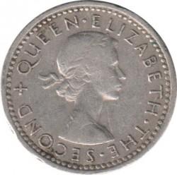 Moneta > 3pence, 1955-1964 - Rhodesia e Nyasaland  - obverse