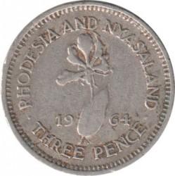 Moneta > 3pence, 1955-1964 - Rhodesia e Nyasaland  - reverse