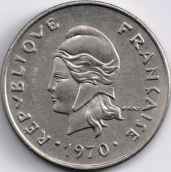 Монета > 20франков, 1967-1970 - Новая Каледония  - obverse