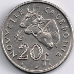 Монета > 20франков, 1967-1970 - Новая Каледония  - reverse