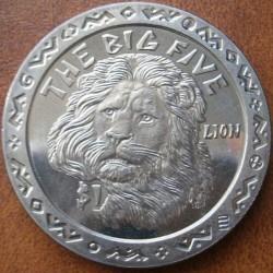 Moneta > 1dollaro, 2001 - Sierra Leone  (I grandi cinque - Leone) - reverse