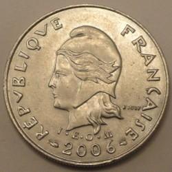 Монета > 10франков, 2006-2017 - Французская Полинезия  - obverse