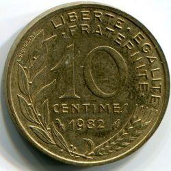 Coin > 10centimes, 1982 - France  - obverse