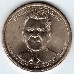 Moneta > 1 dollaro, 2016 - USA  (President of the USA - Ronald Reagan (1981–1989)) - obverse