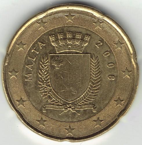 20 Eurocent 2008 2018 Malta Münzen Wert Ucoinnet