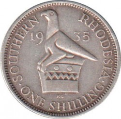 Coin > 1 shilling, 1932-1936 - Southern Rhodesia  - reverse