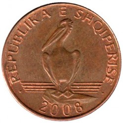 Moneda > 1lek, 2008 - Albania  - reverse