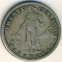 Pièce > 20centavos, 1907-1929 - Philippines  - obverse