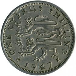 Moneda > 1shilling, 1947 - Xipre  - reverse