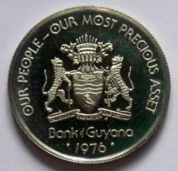 Moneta > 25centai, 1976-1980 - Gajana  - obverse