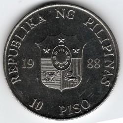 Moneda > 10pesos, 1988 - Filipinas  (Revolución Popular) - obverse