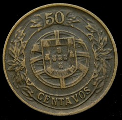 Монета > 50сентавос, 1924-1926 - Португалия  - obverse