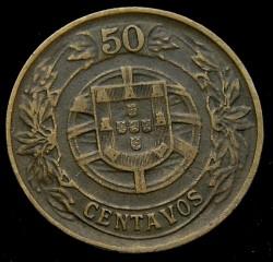 Монета > 50сентавос, 1924-1926 - Португалия  - reverse