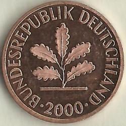 Münze > 1Pfennig, 2000 - Deutschland  - obverse