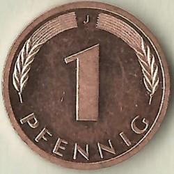 Münze > 1Pfennig, 2000 - Deutschland  - reverse