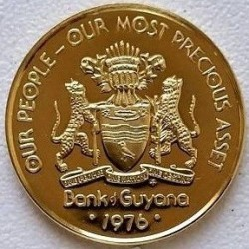 Moneta > 1centas, 1976-1980 - Gajana  (Herbas averse) - reverse