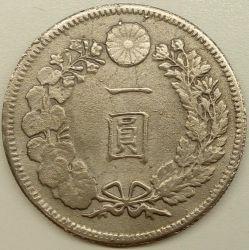 Coin > 1yen, 1874-1912 - Japan  - reverse