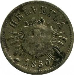 Moneda > 5céntimos, 1850-1877 - Suiza  - obverse