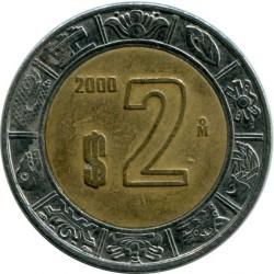 Moneta > 2pesos, 1996-2017 - Messico  - reverse
