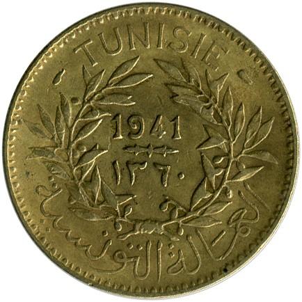 Franc 1926 Tunisie Coins & Paper Money Africa