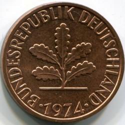 Coin > 2pfennig, 1974 - Germany  - obverse