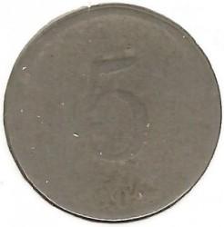 "Moneda > 5centimes, 1904 - Haití  (""5"" en l'anvers) - reverse"