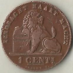Münze > 1Centime, 1912 - Belgien  (Legend in Dutch - 'ALBERT KONING DER BELGEN') - reverse