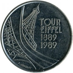 Moneta > 5franków, 1989 - Francja  (100 rocznica - Wieża Eiffla) - reverse