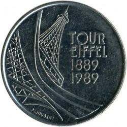 Moneda > 5francs, 1989 - França  (100è aniversari - Torre Eiffel) - reverse