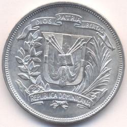 Coin > 1peso, 1939-1952 - Dominican Republic  - obverse