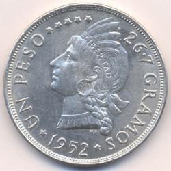 Coin > 1peso, 1939-1952 - Dominican Republic  - reverse