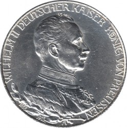 Moneda > 2marcos, 1913 - Alemán (Imperio)  (25º Aniversario - Ascensión de Guillermo II) - obverse