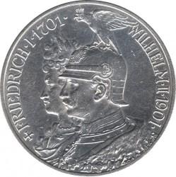 Moneda > 2marcos, 1901 - Alemán (Imperio)  (200º Aniversario - Reino de Prussia) - obverse