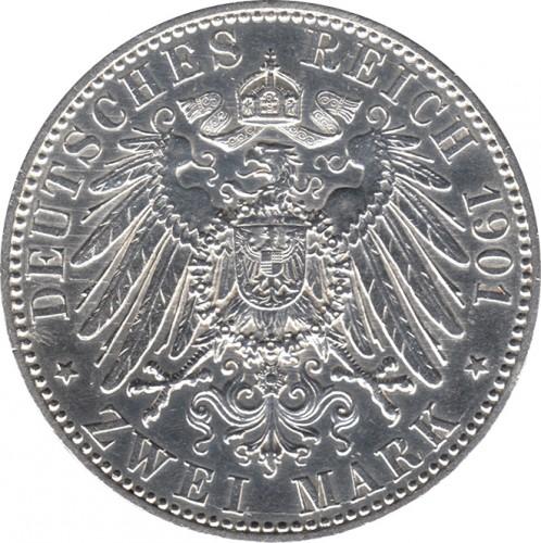 2 Mark 1901 Preussen Deutsches Kaiserreich Münzen Wert Ucoinnet