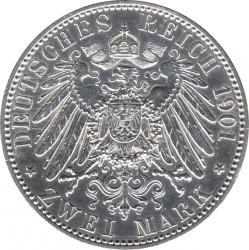 Moneda > 2marcos, 1901 - Alemán (Imperio)  (200º Aniversario - Reino de Prussia) - reverse